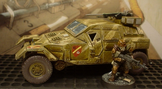 Antenociti jeep for friend's Haqq force
