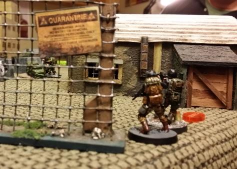 Black Friar fire team advances on right
