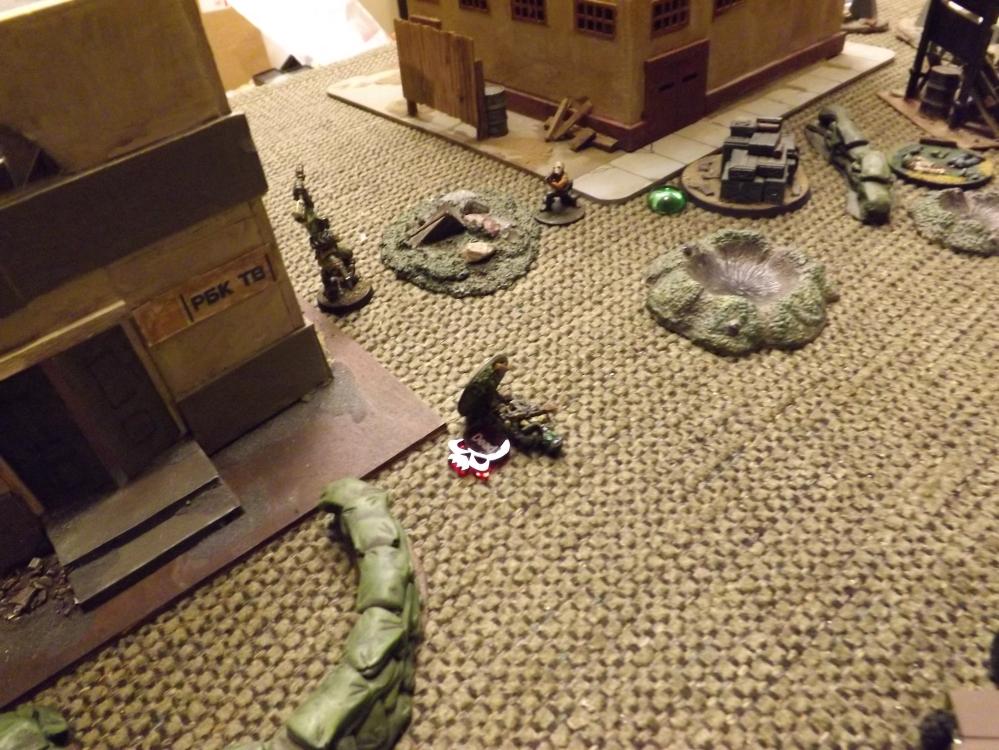 Fighting intensifies on ZERT's left.