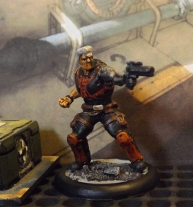 Heroclix Cable, inked and eyeballed. Nice fig that needs more work.