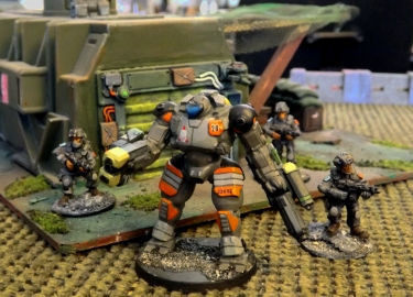Infantry with Zandris IV battle suit. Get one - You know  want to.
