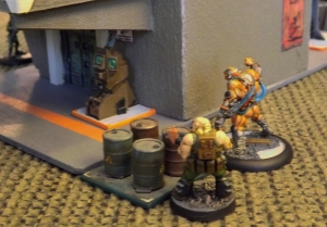 Krieg 7B and clone  move up to assist Bok.