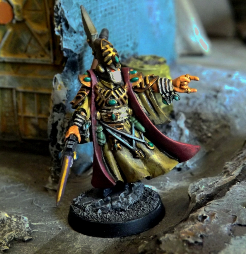 Metal Elder Farseer. He's now in command of Derek's Elder mercenary force.