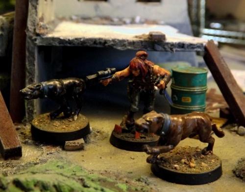 Dog-Boy and his faithful hounds,  Big, and Mac