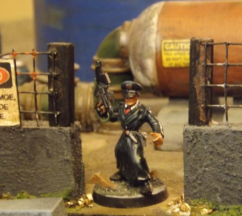 Comrade Commissar orders troopers forward!