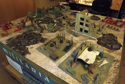 Urban Ruins on Deep Cut Studios game mat.